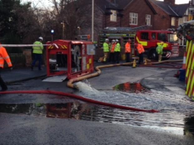 800,000 litres of water pumped out after Davenham flood