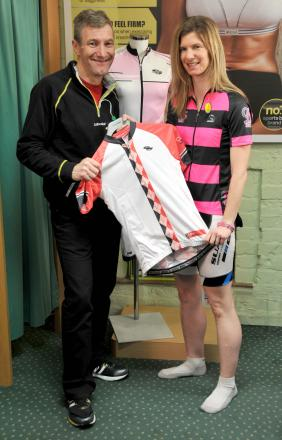Tony shows off the new line in women's cylclewear as cycling enjoys a boom in popularity.