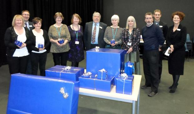 From left, Sandra Burrows, Andy Sumner, Maureen Sandbach, Jane Sproston, Pauline Lowrie, Trevor Rawling, Ruth Smith, Anne-Marie Dibben, Andy Marshall, Andrew Boden and Kerry Kirkwood.