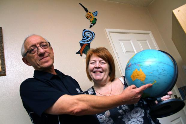 Terry and Linda Armistead are emigrating to the other side of the world.