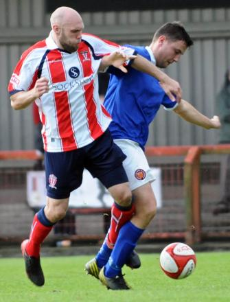 Dave Walker, left, has joined Witton Albion on a permanent basis after leaving Rushall Olympic