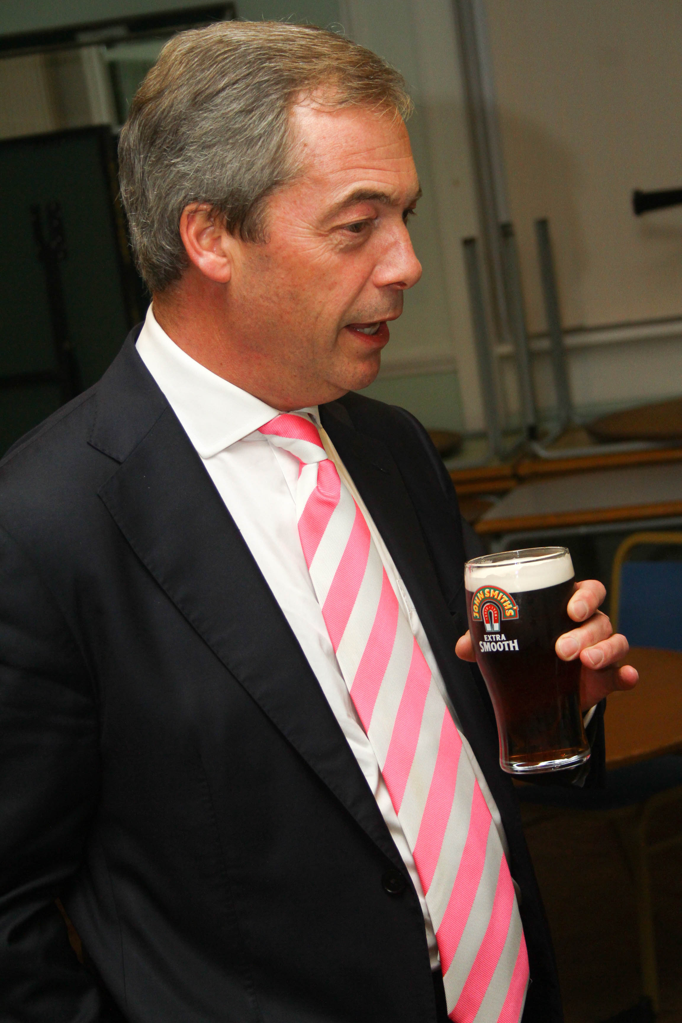Farage outlines policies and aspirations at Winnington Rec
