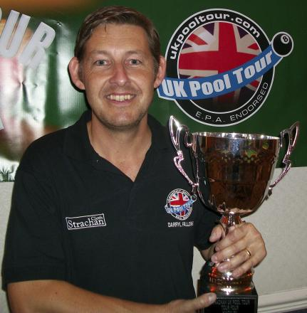 Northwich player Darryl Fallows celebrated two notable wins in the UK Pool Tour's Premier League at the weekend