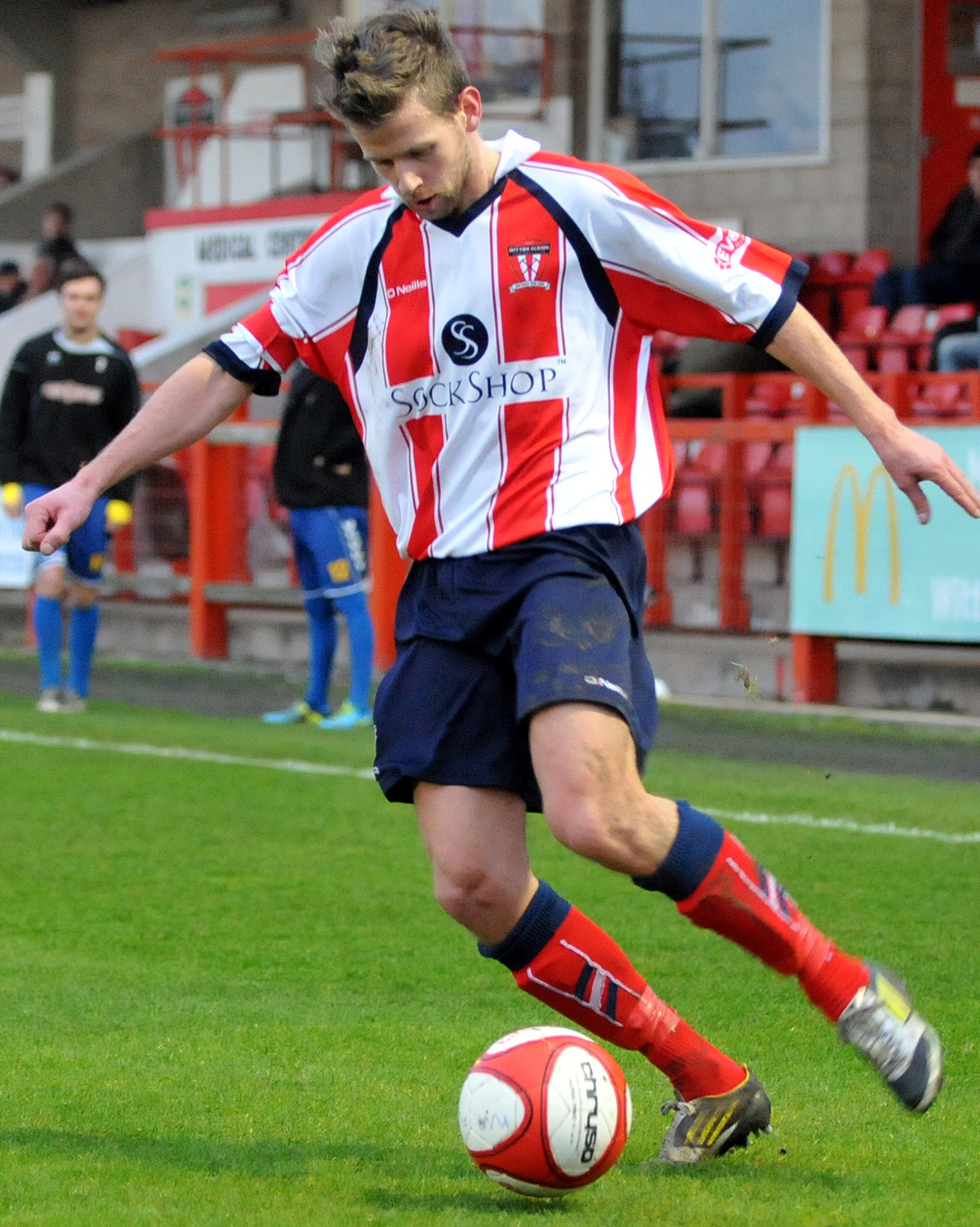 Ally Brown made his 50th appearance for Witton Albion in Tuesday's cup exit