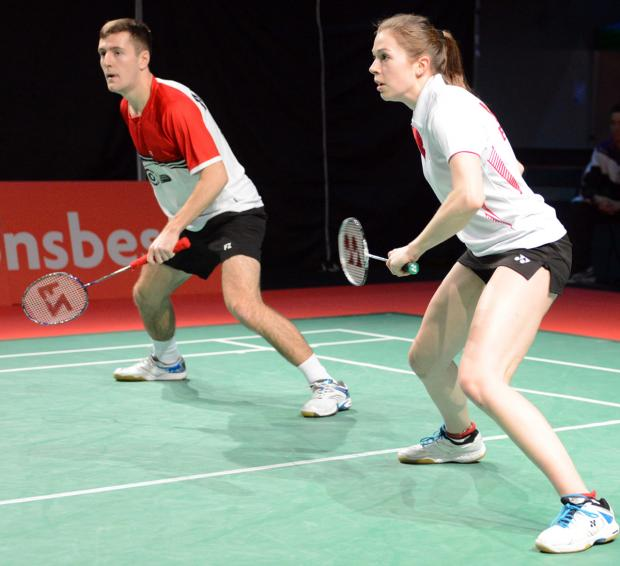 Greg Mairs and Jennifer Moore in action during the English National Championships at the weekend
