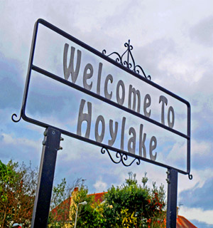 Northwich Guardian: Hoylake sign