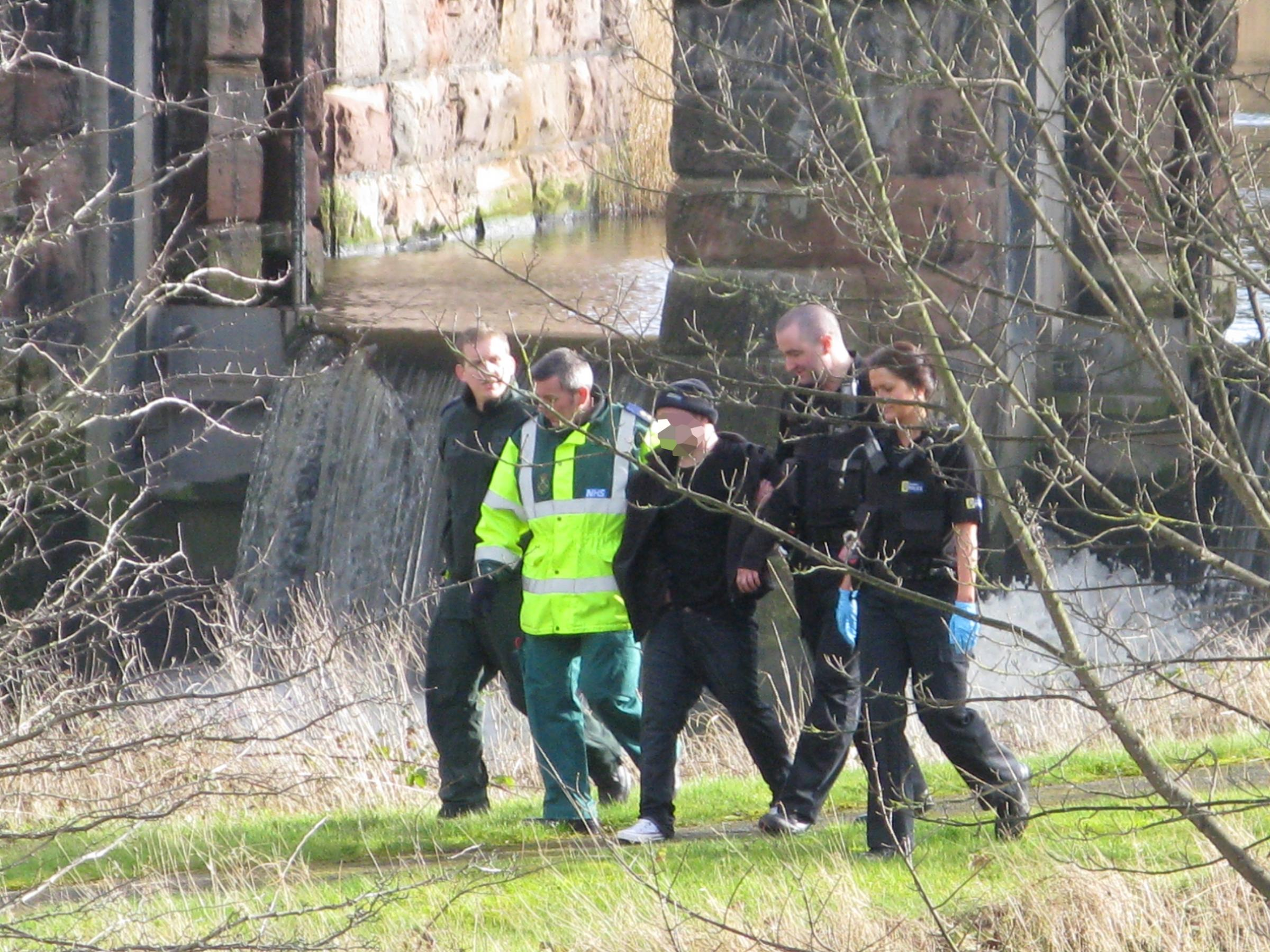 VIDEO: Man pulled from River Weaver