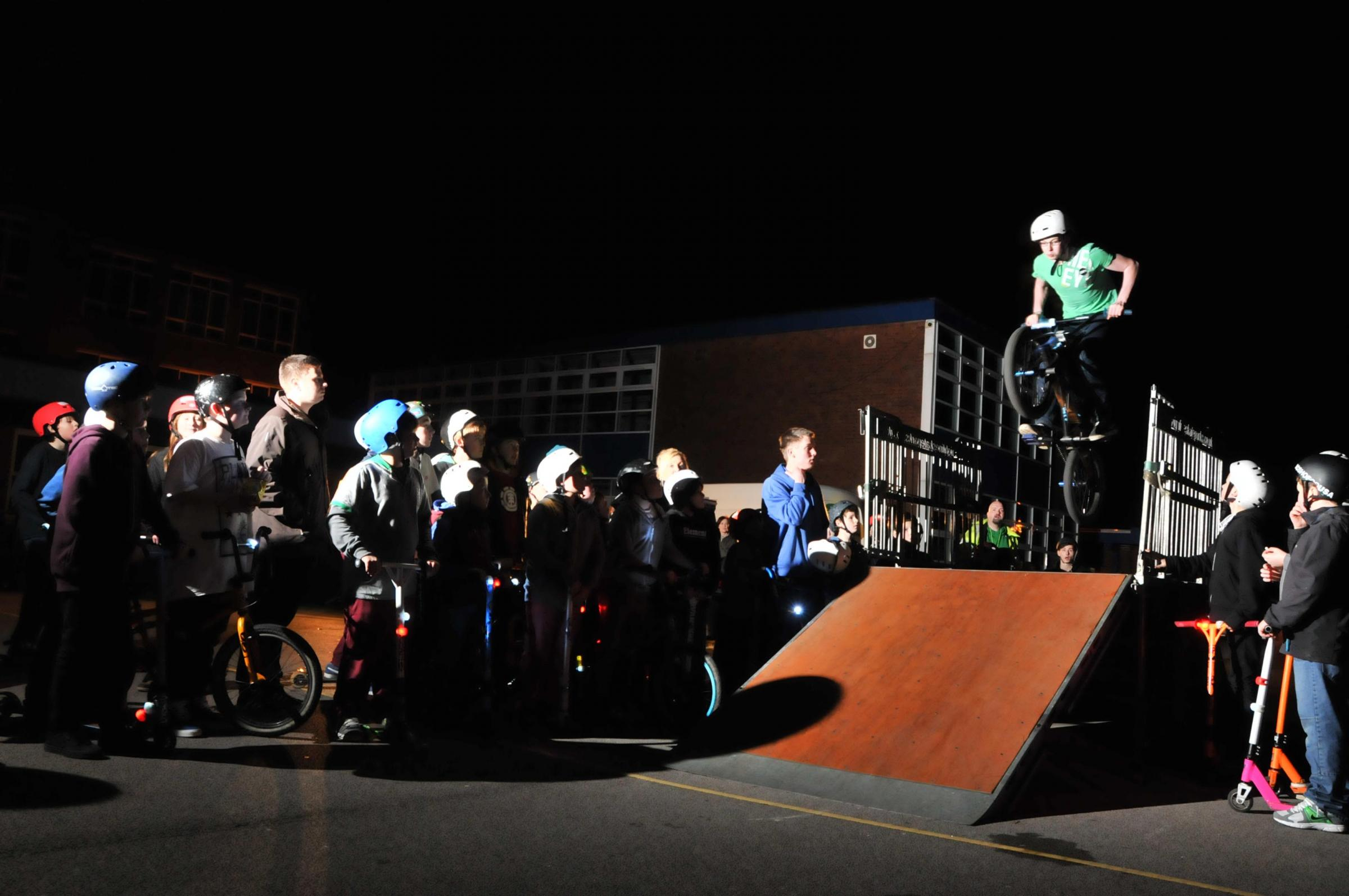PEDAL POWER: Weaverham community illuminates safe cycling