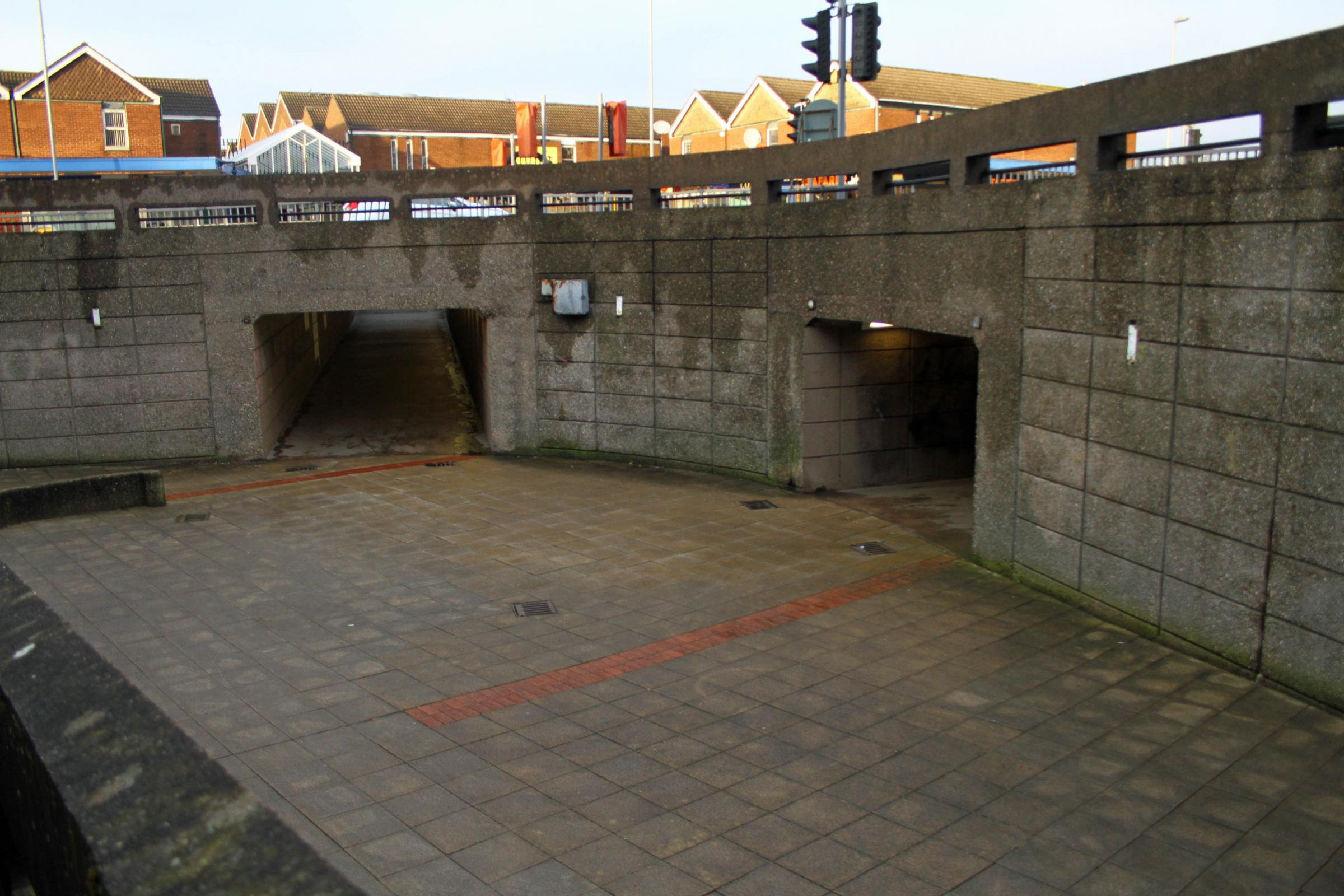 Northwich's subway would be filled in if CWAC had the money.