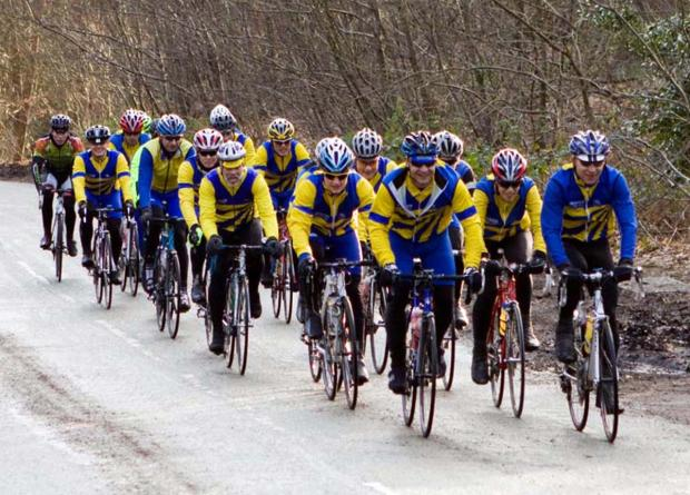 Weaver Valley Cycling Club members during their weekend training trip to Llanberis. Picture: KAREN BOYLE