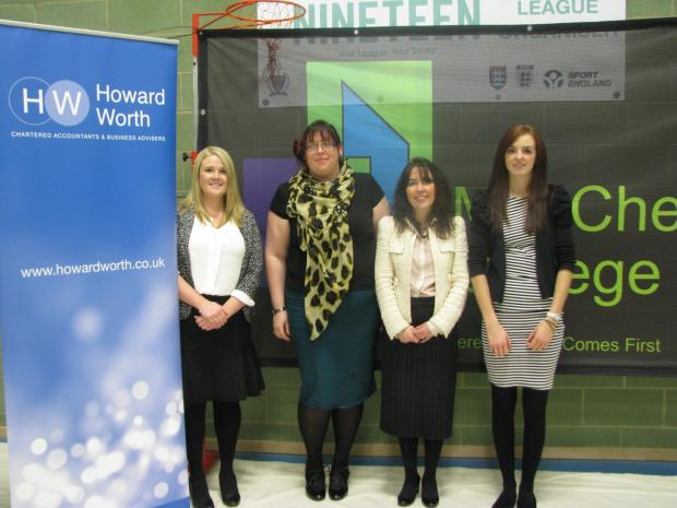 Liz Clark, Sophie McCartney and Georgina Bell from Howard Worth with the Guardian's Donna Gill