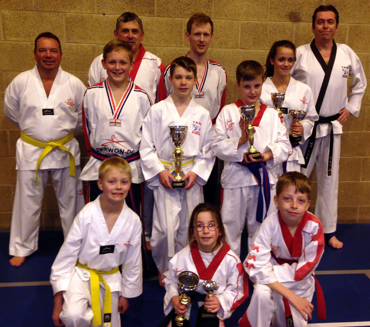 Students from Middlewich Tae Kwon-Do show off the medals they won at the T
