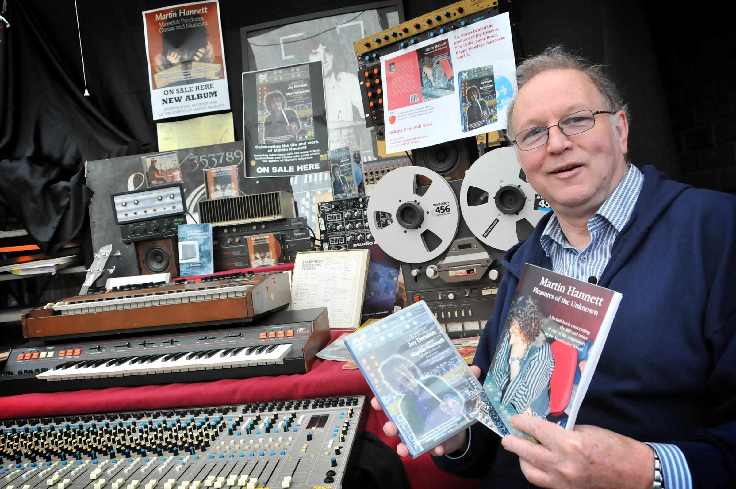 Chris Hewitt with the DVD and book