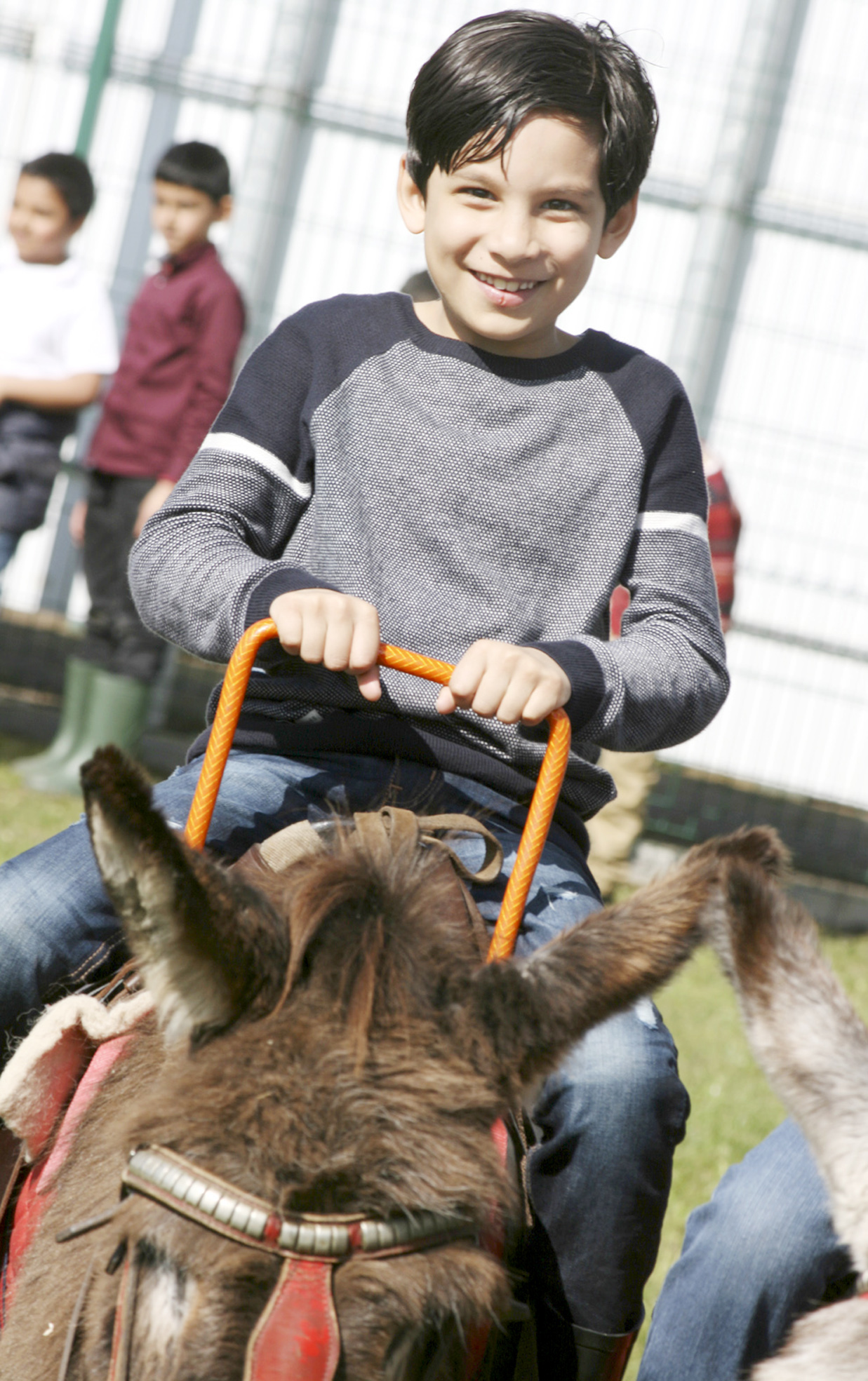 Donkey rides are among the attractions at the fun day.