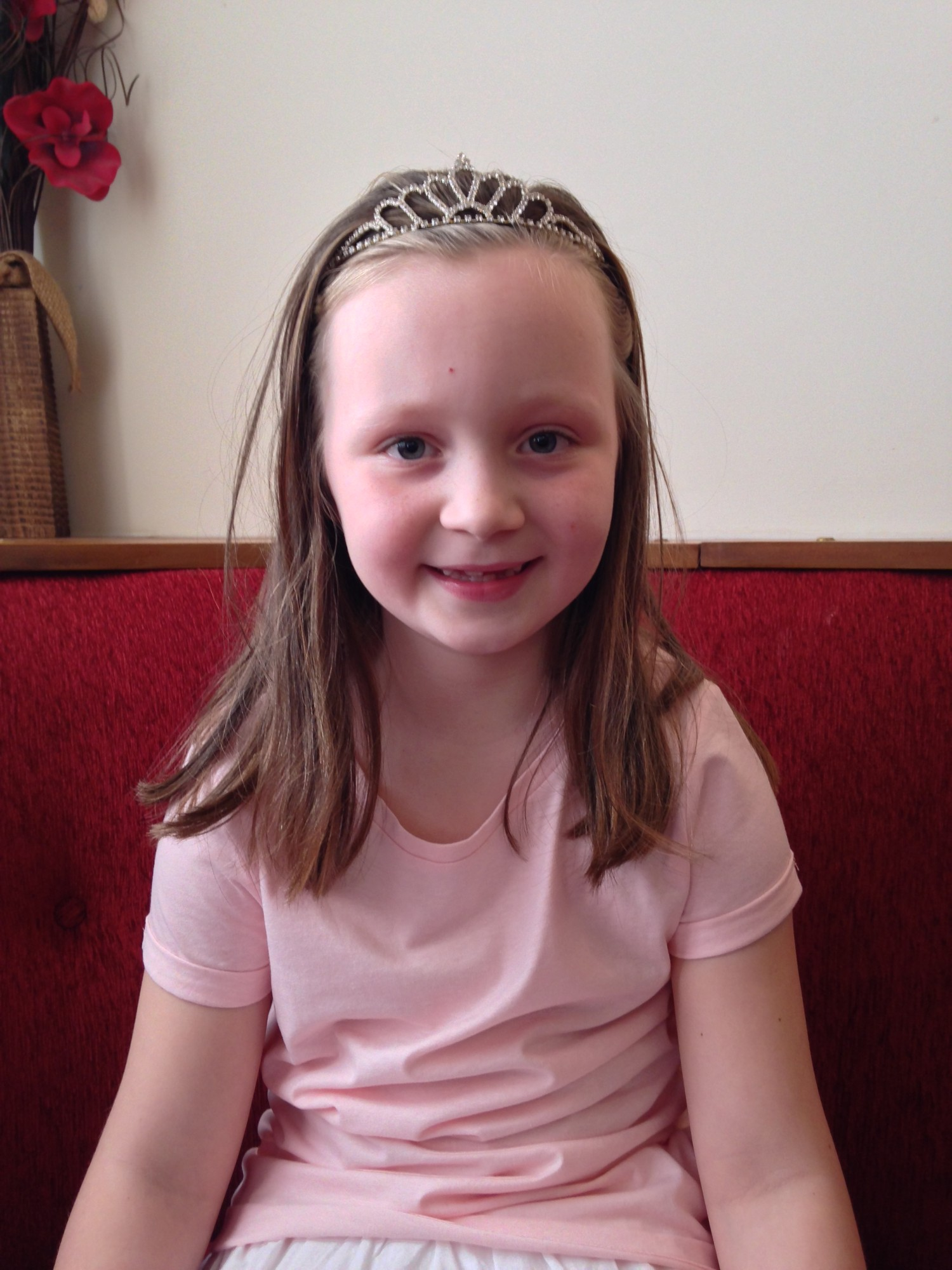 Megan Keeling, seven, will be crowned Davenham carnival queen on June 21.
