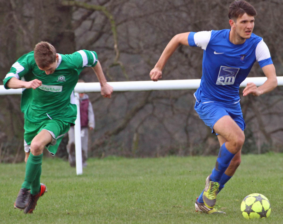 Lostock Gralam, in blue above, are hoping to end the season with a piece of silverware. Picture: MATT SAYLE