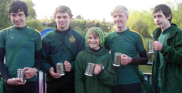 Northwich Rowing Club's MJ15 coxed four that will compete at the Junior Inter-Regional Regatta this weekend