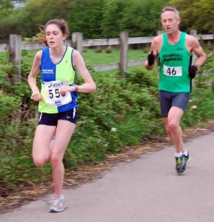 Kate Moulds was the fastest woman in the field during Thursday's Mobberley Round the Runway race