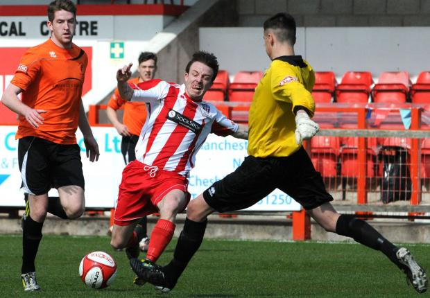 Northwich Guardian: Shaun Tuck in action for Witton Albion last season