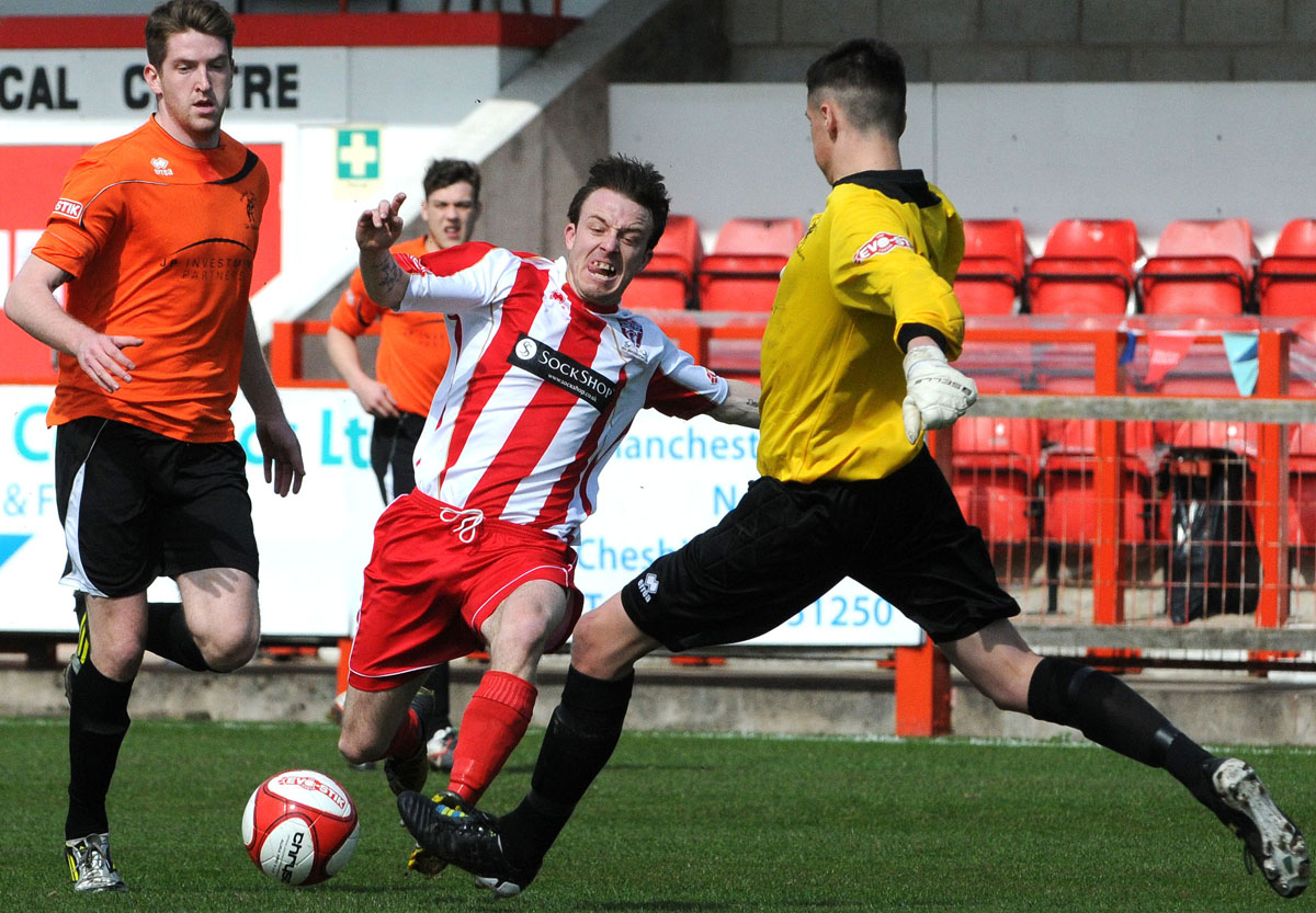 Shaun Tuck in action for Witton Albion last season