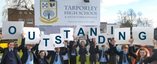 Pupils celebrate their outstanding Ofsted report