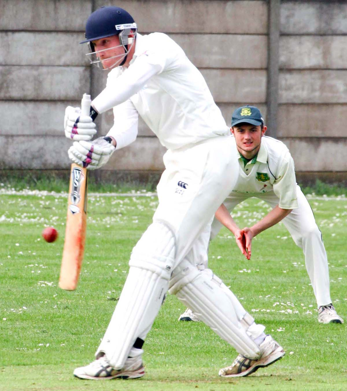 Winnington Park opener James Hendry keeps his eye on the ball during Saturday's draw at home to Lymm. Picture: MATT SAYLE