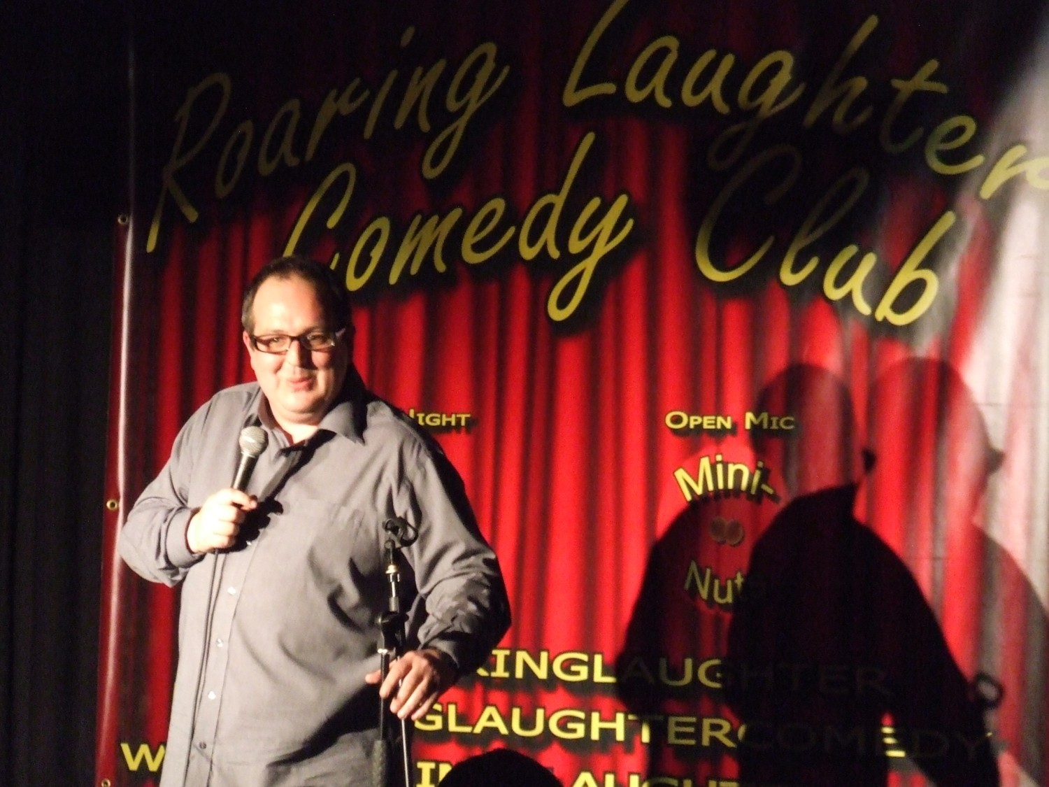 Justin Moorhouse at the Roaring Laughter Comedy Club.