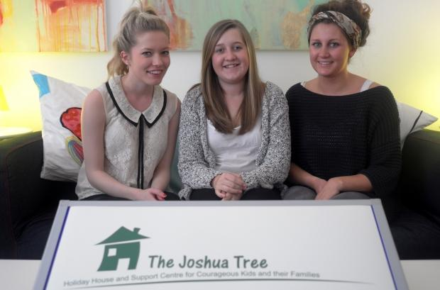Melissa Hodgkinson, Emily Rose Pike and Sophie Jones are the students helping The Joshua Tree.