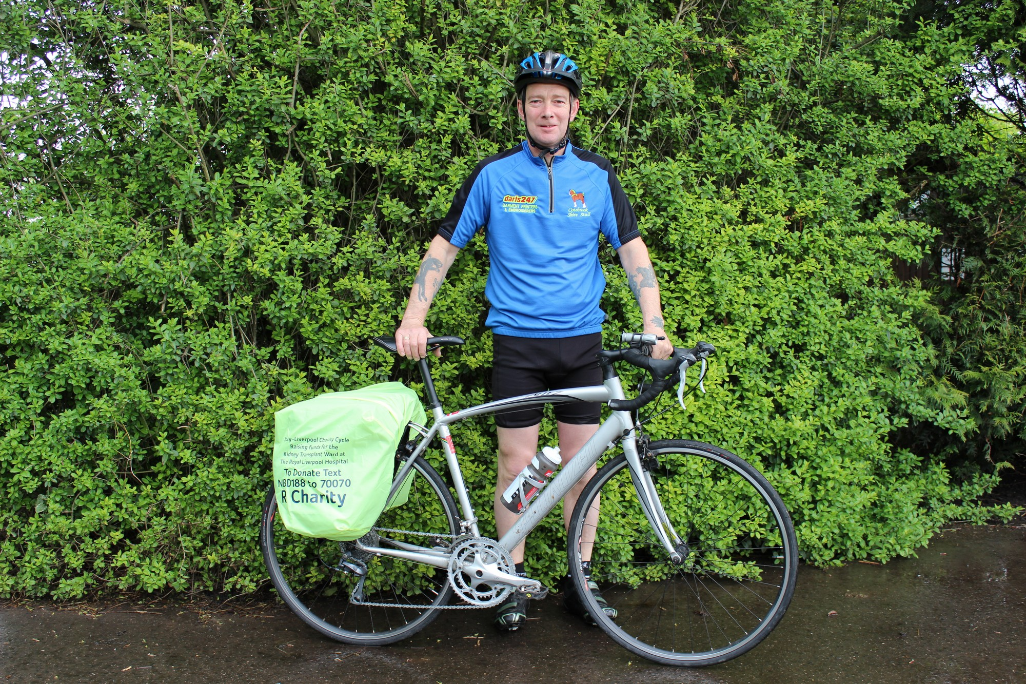 Dave swaps horse power for pedal power for hospital