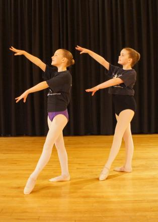 Beatrice Turner, left, and Amelia Humphreys are to perform with the English Youth Ballet.