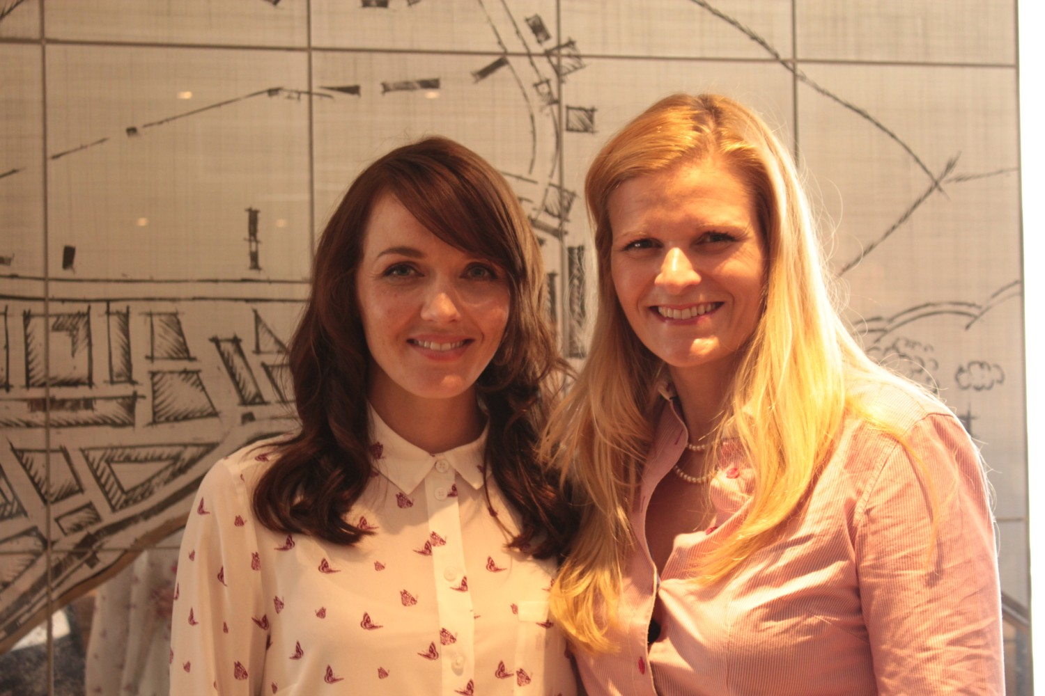 Victoria with Kate Muddiman, who is helping to organise this year's event.