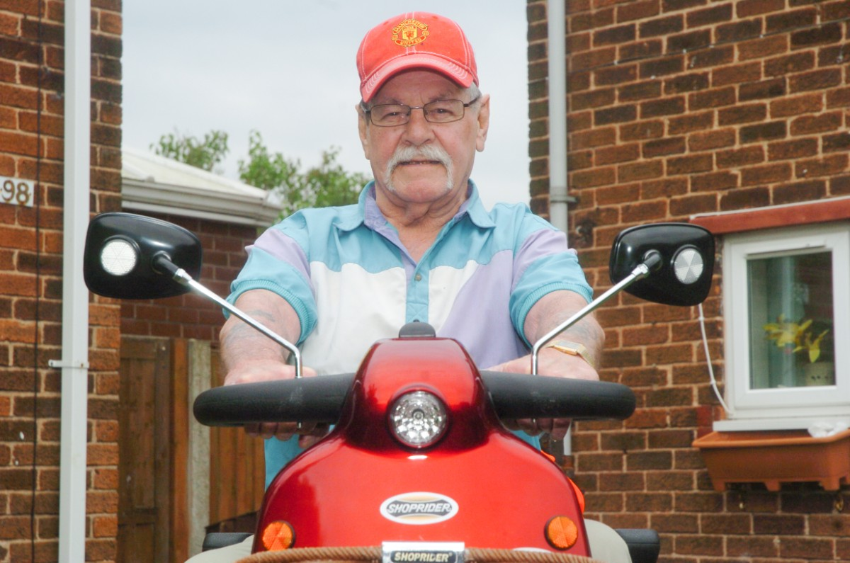 Roy Yearsly thanked police for finding his stolen scooter