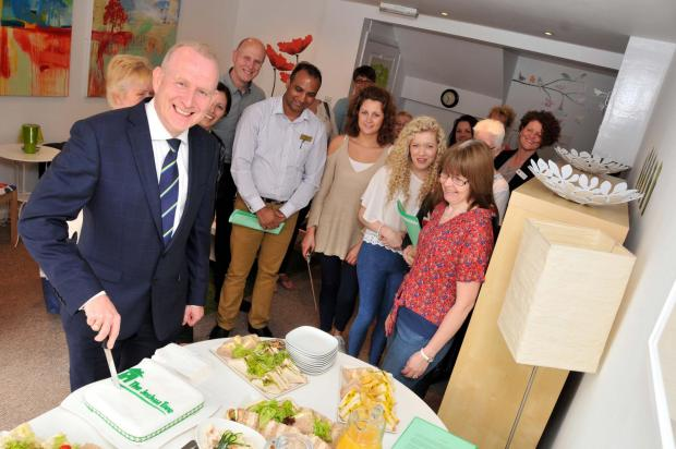 Supporters join Graham Evans MP and charity founder Lynda Hill to celebrate eight years of The Joshua Tree.