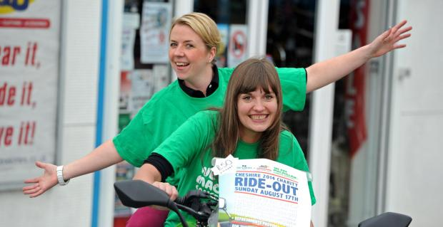 Northwich Guardian: Sase Godfrey and Alex Johnson get set for the ride out 2014                 PH270514-16