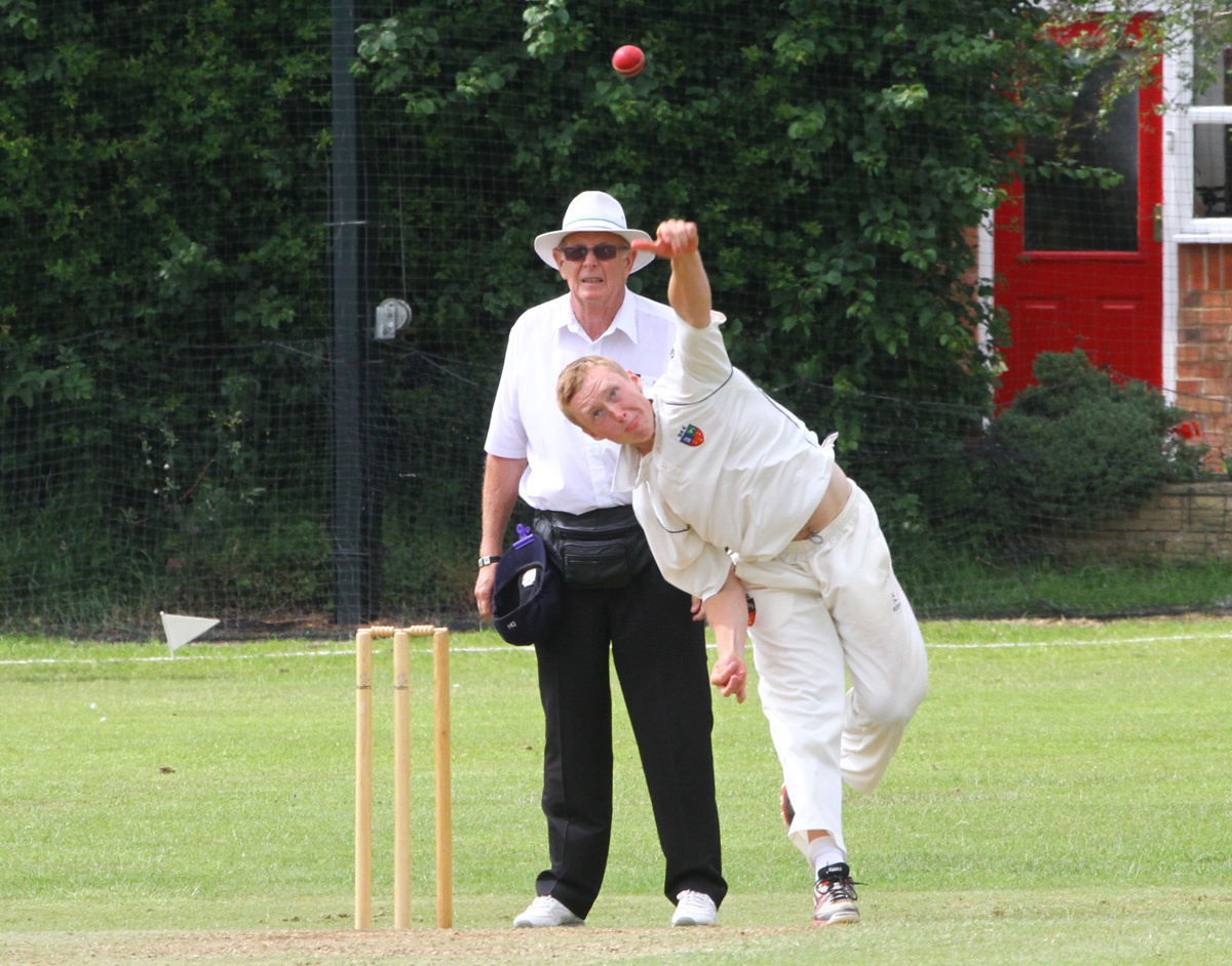 Davenham slow bowler Dan Hancock took three wickets in their defeat against Macclesfield. Picture: MATT SAYLE