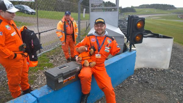 Gary Jones in his role as a marshal at Donington Park