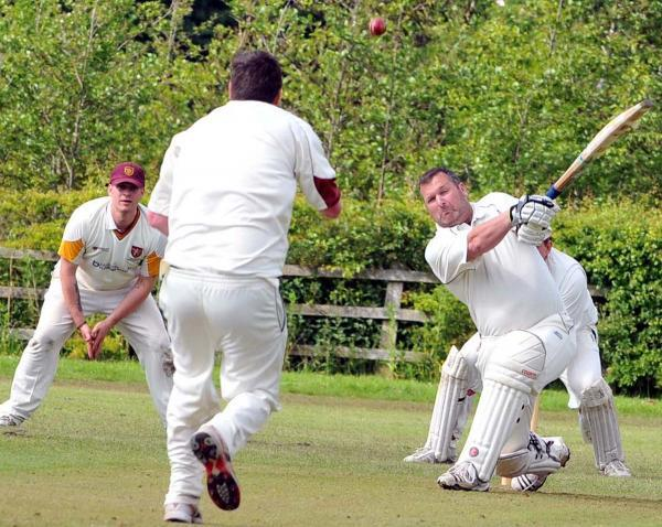 Barry Crellin, batting above, scored a half-century for Winsford on Saturday
