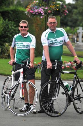 Rod Clansey and Chris Shaw raised £2,000 and learned a lot on their three-day 300-mile ride through France.