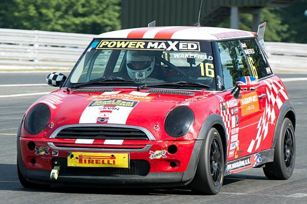 Mark Wakefield, from Weaverham, behind the wheel of his Cooper class machine during Saturday's Power Maxed MINI Challenge round at Oulton Park. Picture: MIKE LYNE