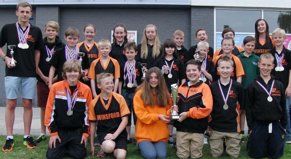 Winsford's swimmers were presented with the Top Club prize at the end of Liverpool Summer Sprints gala