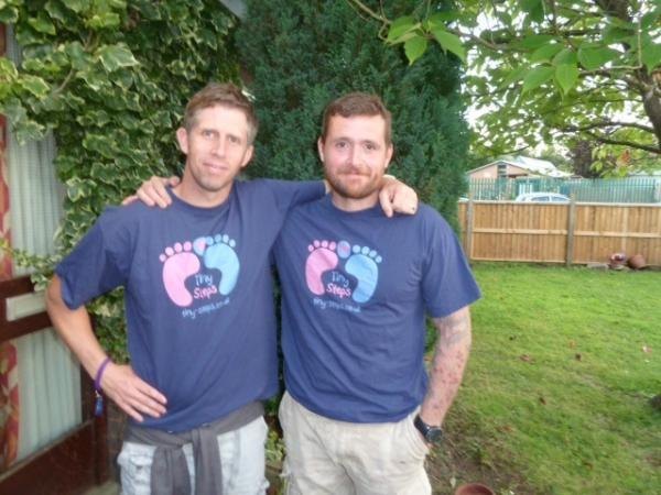 Martin Clifton and Roger Rayner are running 84 miles in two days for Tiny Steps.