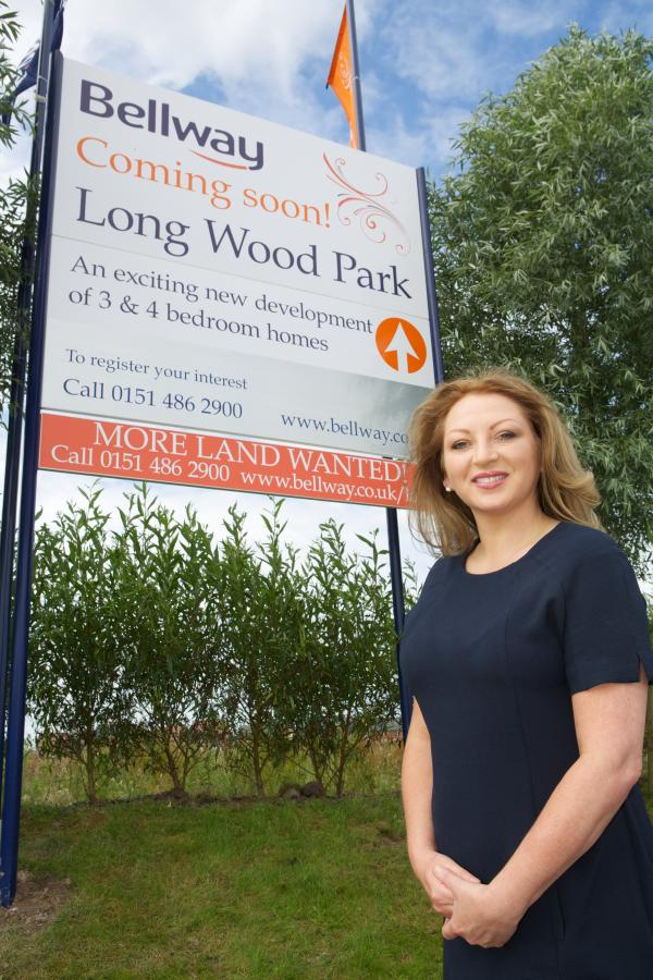 Bellway Homes sales manager Annette Kirby at Long Wood Park