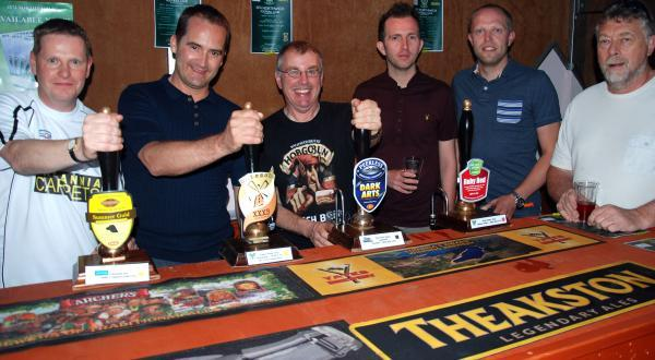 Beer festival organiser Andrew Perry, centre, will present a cheque for more than £3,000 to the club next week