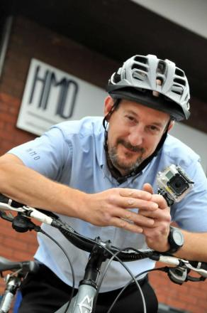 Steve Hall has been filming the difficulties of cycling in and around Northwich.