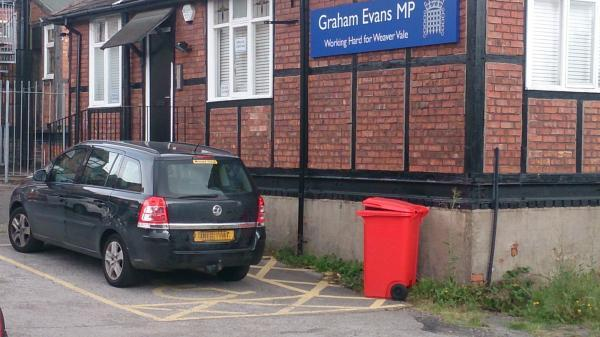 The car photographed outside Graham Evans' constituency office