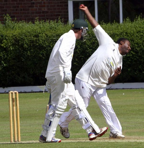 Antiguan all-rounder Wilden Cornwall claimed the prize wicket of Stockport's overseas player during Weaverham's latest win. Picture: MATT SAYLE