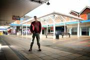 Dave Hodkinson in the empty Weaver Square where he opened his shop nine months ago.