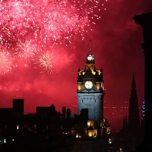 Edinburgh lights up during the Virgin Money Fireworks Concert, the traditional closing act in the city's busy festival calendar