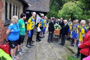 Cyclists from Weaver Valley Cycling Club and Breeze form a guard of honour at the funeral of Claire O'Brien. n143620