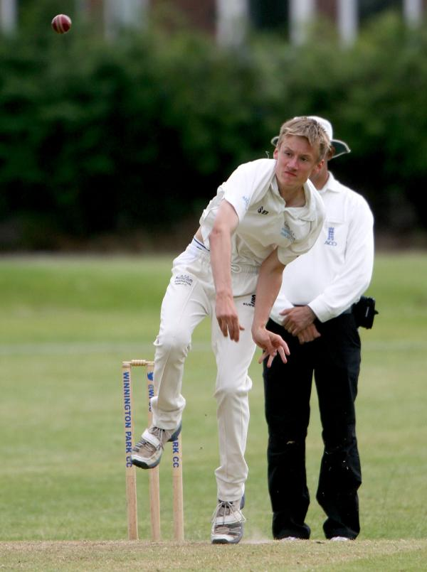 Sam Barnes was among Winnington Park's wicket-takers against Bunbury on Saturday. Picture: STUART BOGG